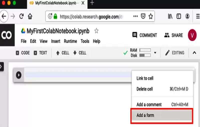 Coding in the Google Colab environment is very easy!